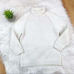 Gap Chunky Knit Ivory Turtleneck Sweater